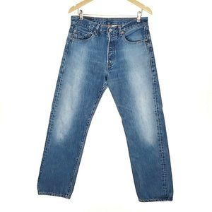 Levis 501 Button Fly Vintage Straight Jeans Mens